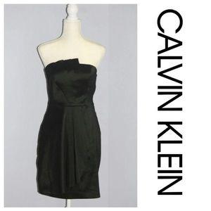 Calvin Klein Black Cocktail Strapless Mini Dress